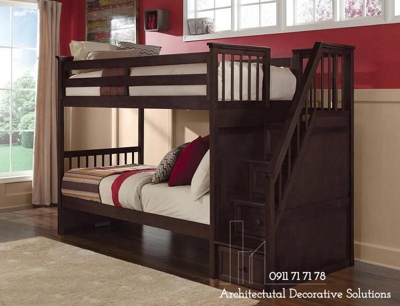 Giường Tầng Giá Rẻ 2T – Nâu