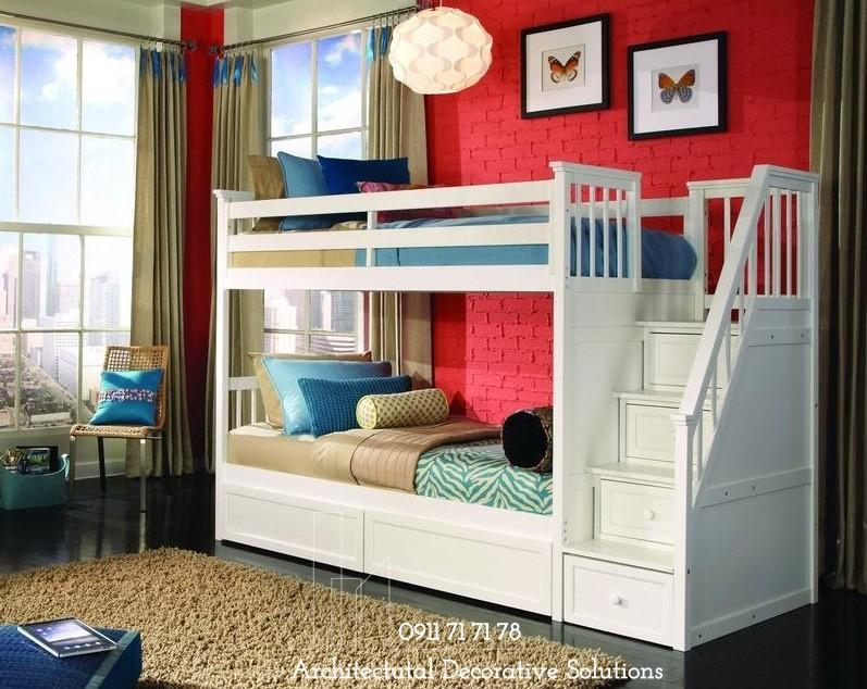 Giường Tầng Giá Rẻ 2T – Trắng