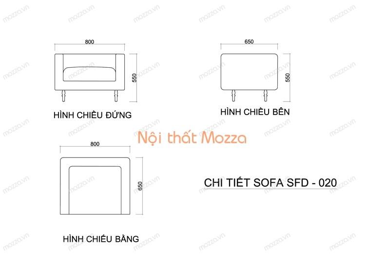 GHẾ SOFA ĐƠN SFD 020