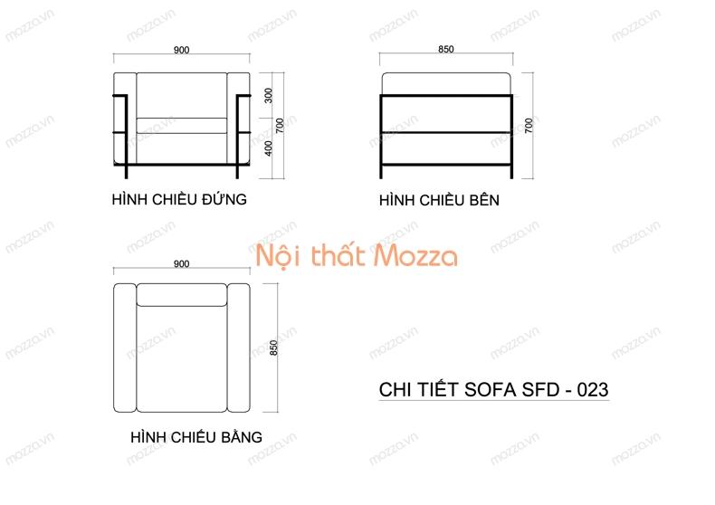 GHẾ SOFA ĐƠN  SFD 023