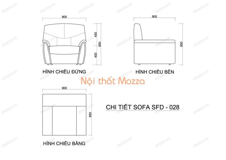 GHẾ SOFA ĐƠN SFD 028