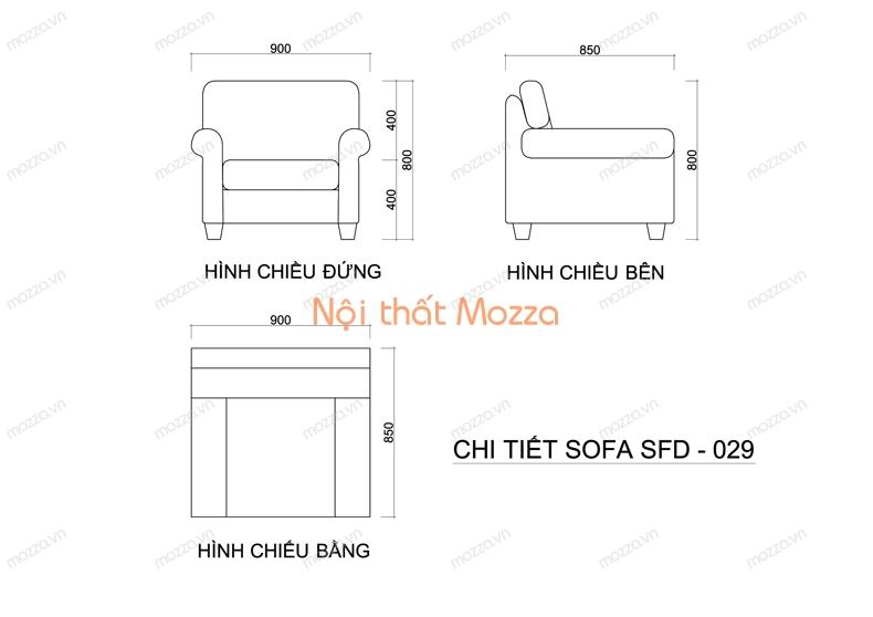 GHẾ SOFA ĐƠN SFD 029