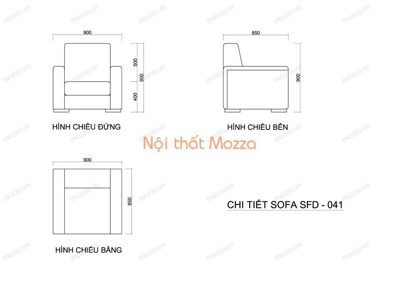 GHẾ SOFA ĐƠN ĐẸP SFD 041