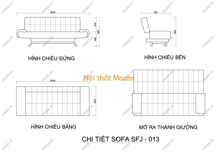 SOFA GIƯỜNG SFJ - 013