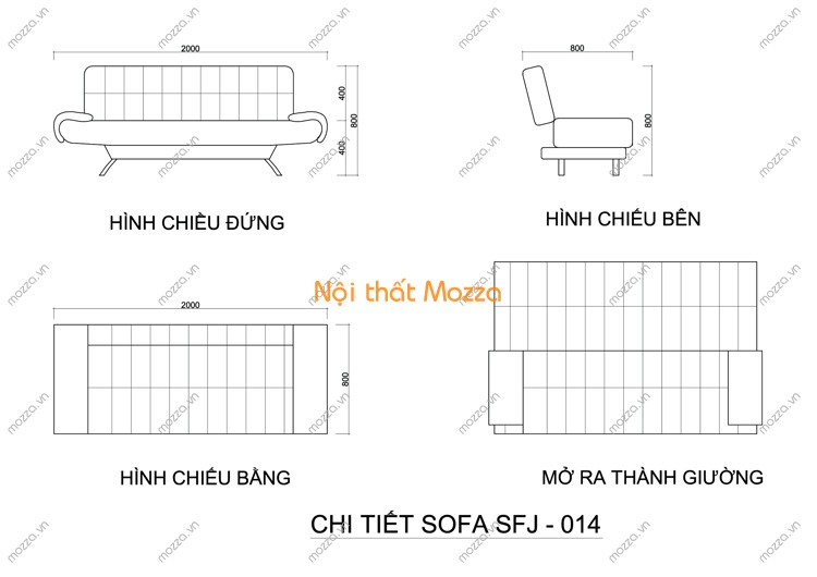 SOFA GIƯỜNG SFJ - 014