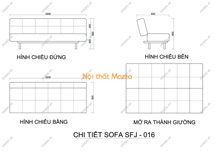 SOFA GIƯỜNG SFJ - 016