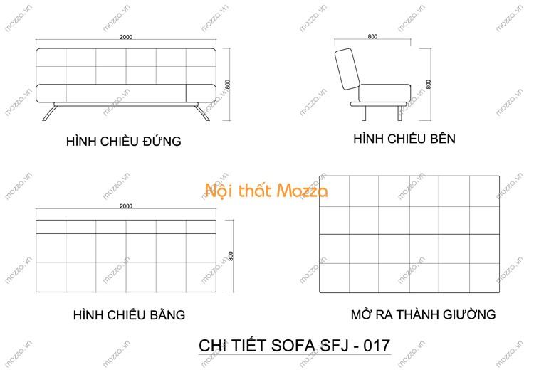 SOFA GIƯỜNG SFJ - 017