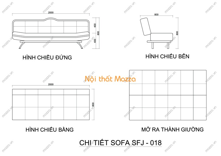 SOFA GIƯỜNG SFJ - 018