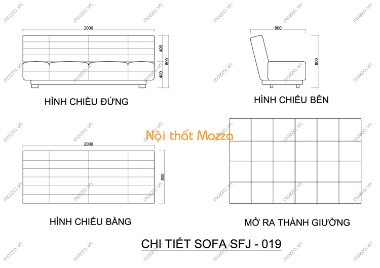 SOFA GIƯỜNG SFJ - 019