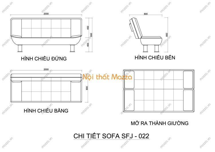 SOFA GIƯỜNG SFJ - 022