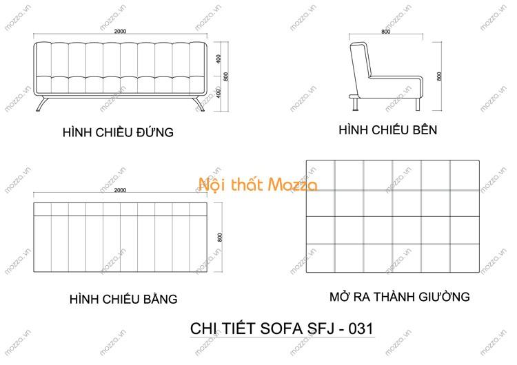 SOFA GIƯỜNG SFJ - 031