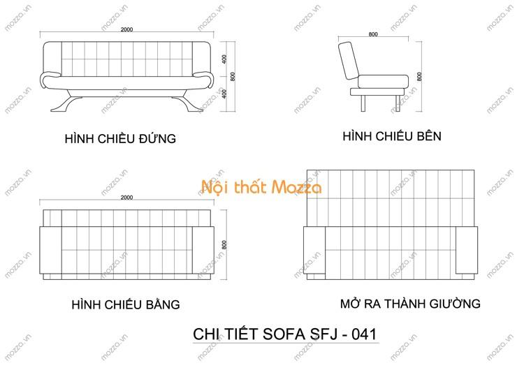SOFA GIƯỜNG SFJ - 041