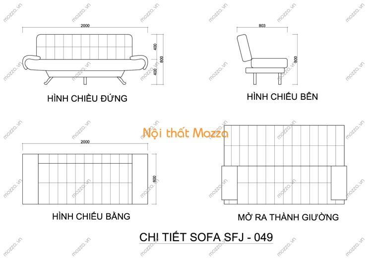 SOFA GIƯỜNG SFJ - 049