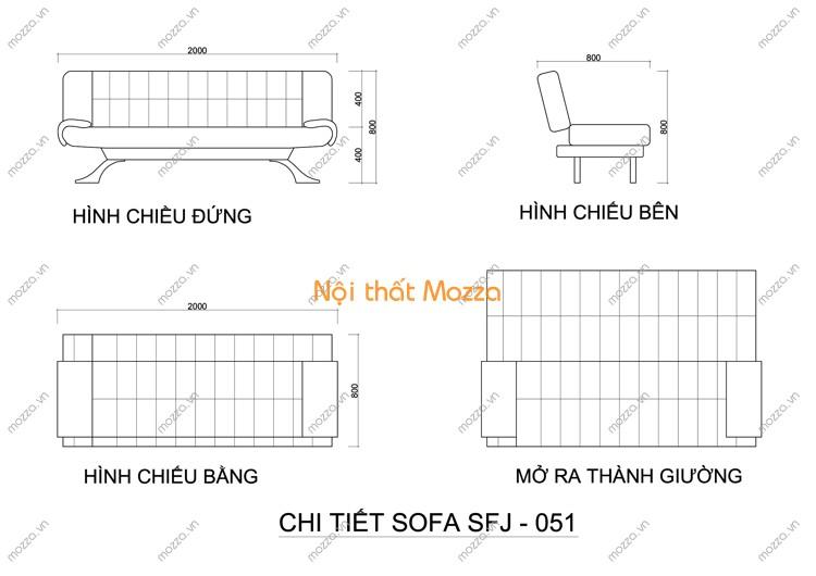 SOFA GIƯỜNG SFJ - 051