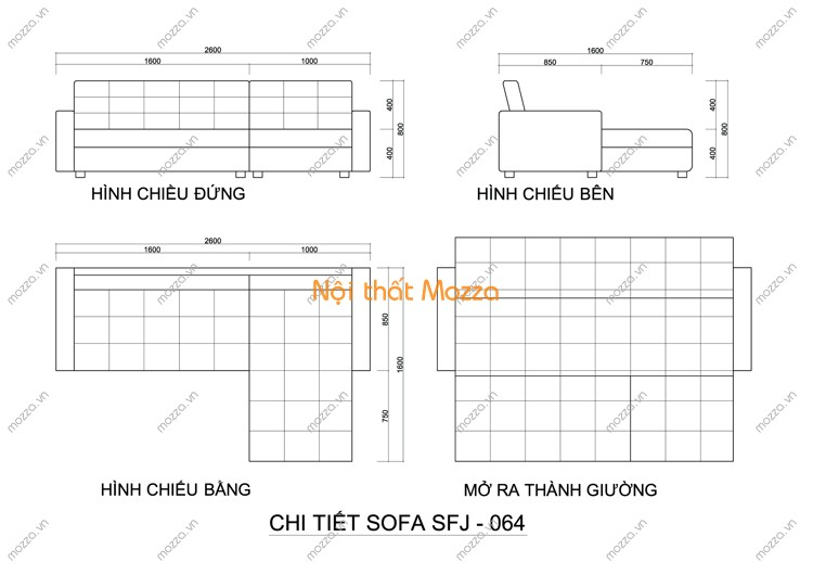 SOFA GIƯỜNG SFJ - 064