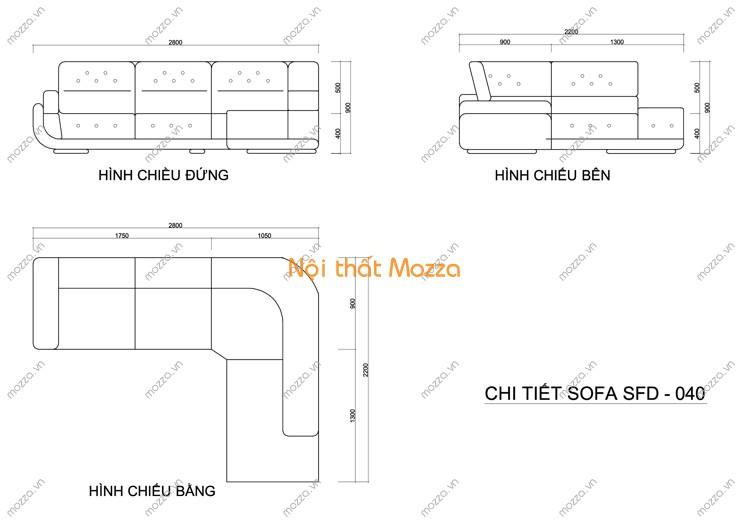 GHẾ SOFA DA CAO CẤP SFD - 040