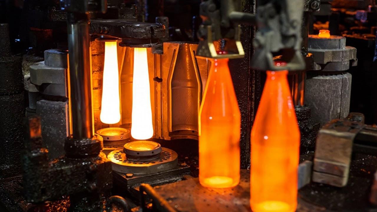 dây chuyền sản xuất chai lọ thủy tinh
