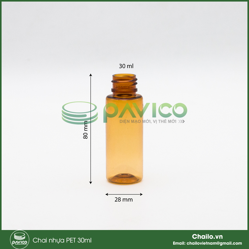 chai nhựa pet 30ml