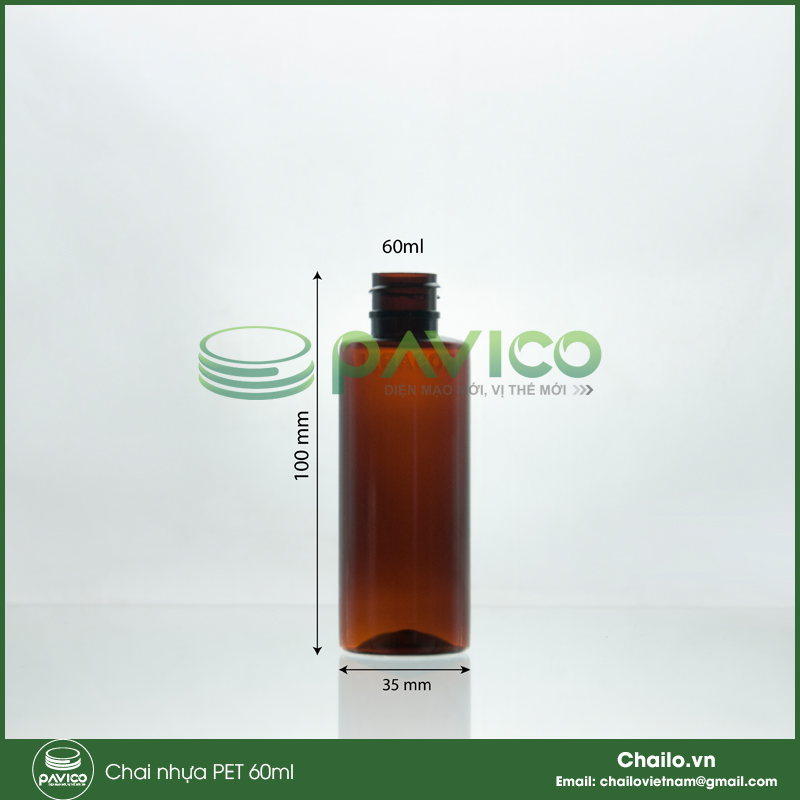 chai nhựa pet 60ml