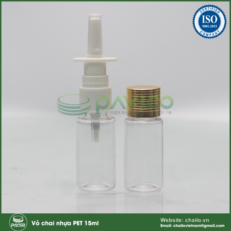 chai nhua pet 15ml
