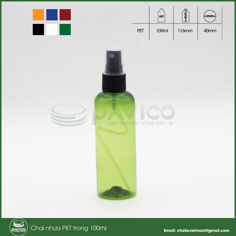 chai nhua pet 100ml