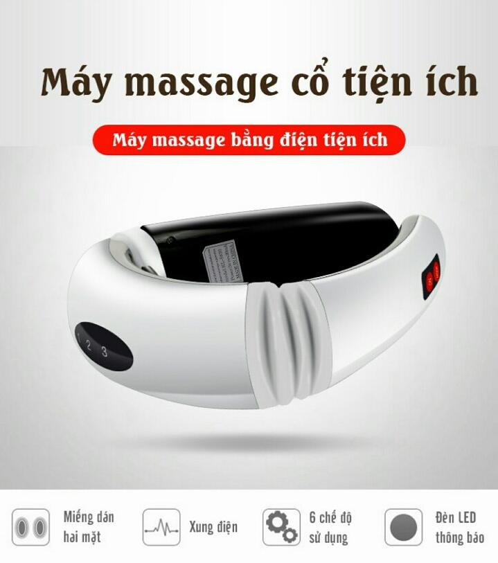 Máy Massage Cổ Cảm Ứng Xung Điện Từ 3D Thông Minh