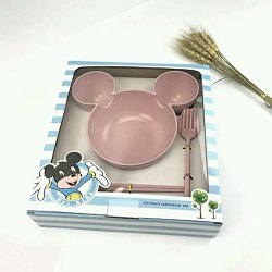 Set bát tập ăn dặm Mickey cho bé