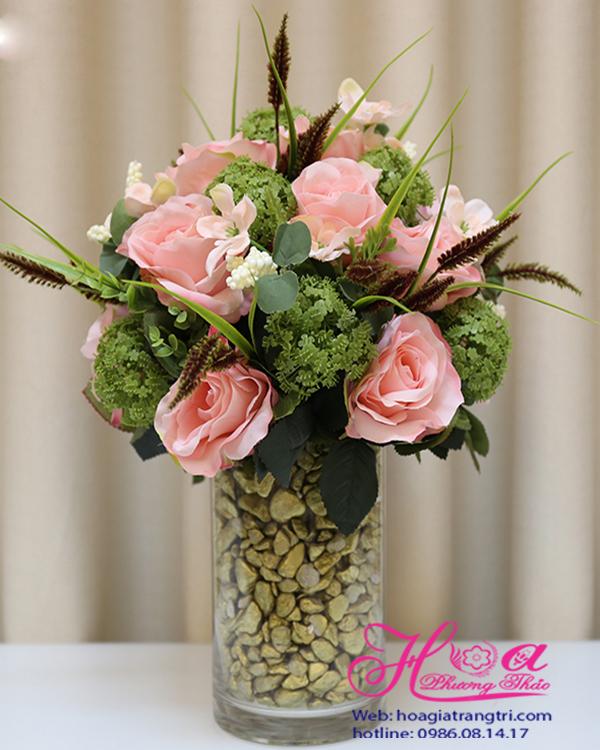 Bình hoa giả để bàn giá rẻ đẹp chất lượng cao