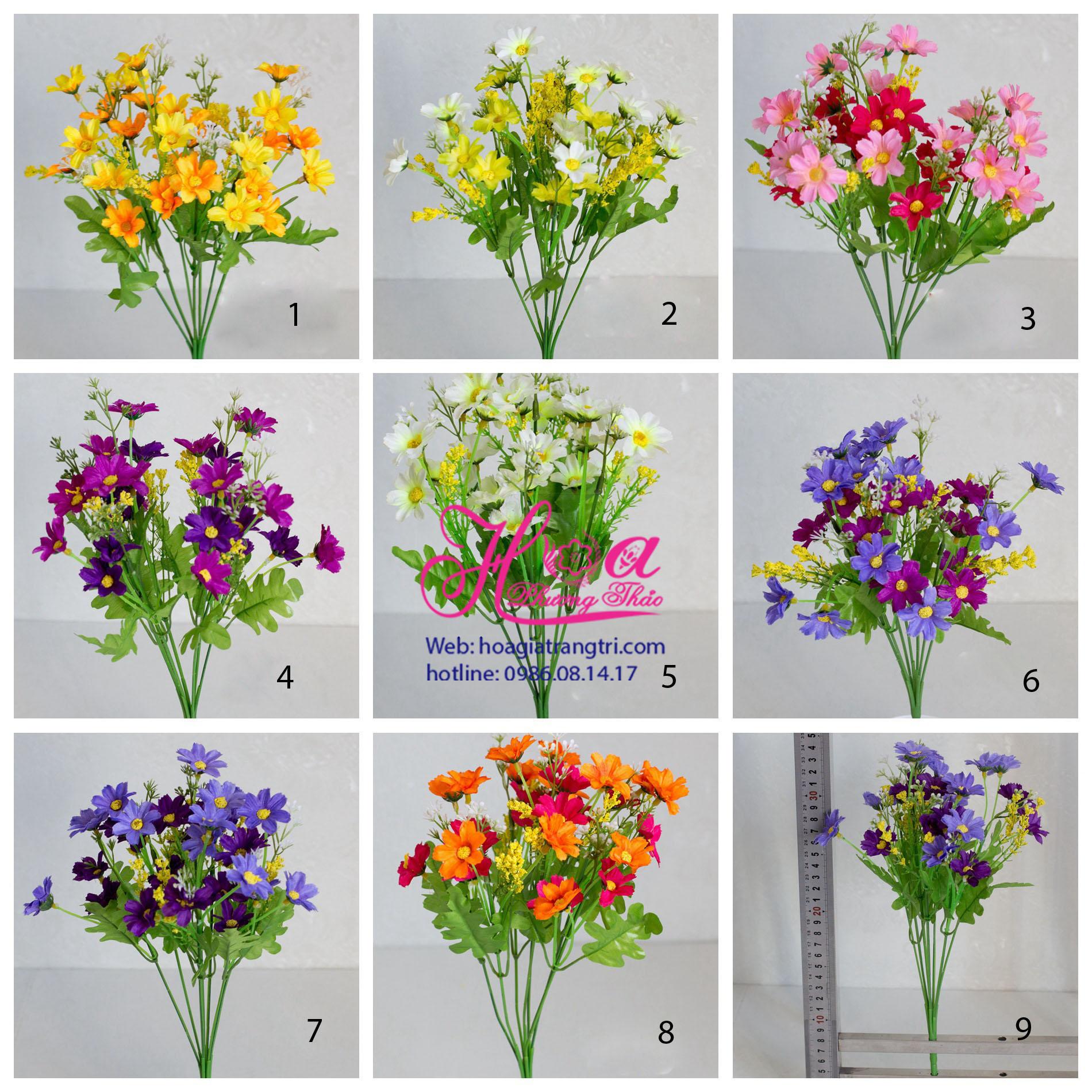 Cành hoa giả đề bàn trang trí vào bình hoa cực đẹp