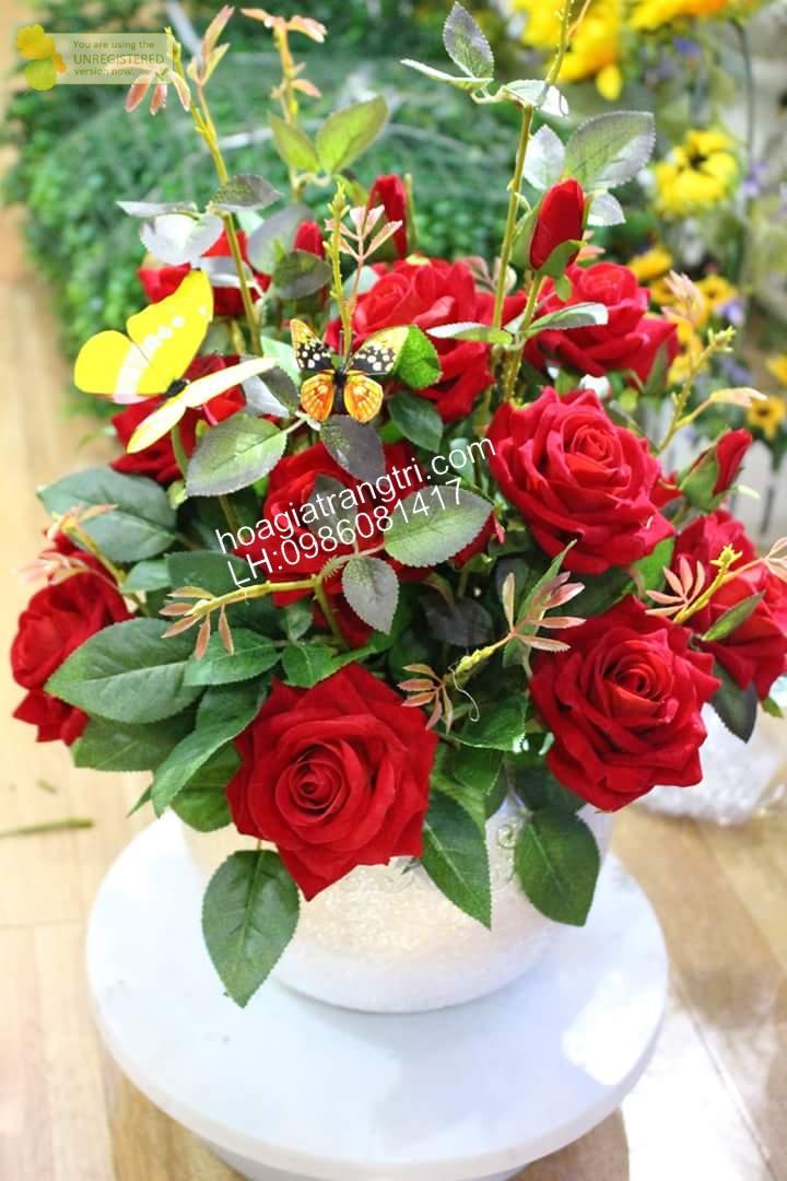 Hoa hồng nhung giả mua ở đâu là tốt nhất