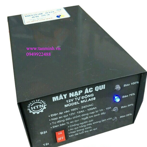 Máy nạp ắc quy tự động HTN 12V-100Ah