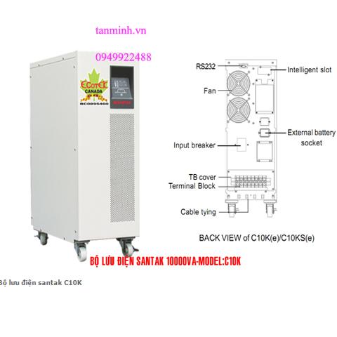 Bộ lưu điện santak C10K -online(ắc quy trong)