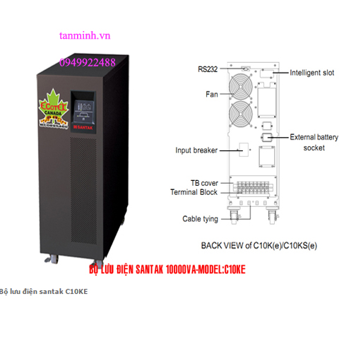 Bộ lưu điện santak C10KE -online( ắc quy trong)