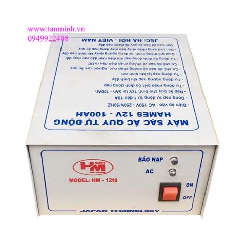 Bộ nạp ắc quy tự động thông minh sạc 3 giai đoạn Hames 12V/5Ah-100Ah HM1210