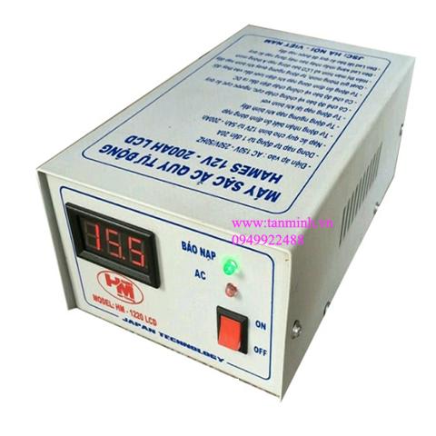 Máy sạc ắc quy tự động Hames 12V-200Ah HM-1220 LCD công nghệ Nhật Bản