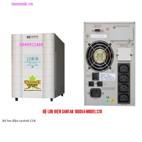 Bộ lưu điện santak C1K -online(ắc quy trong)
