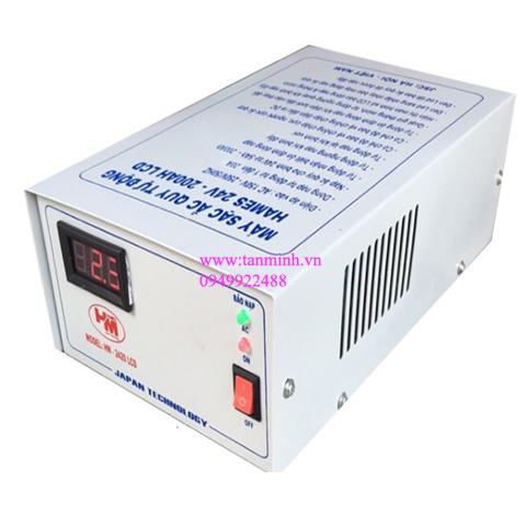 Máy sạc ắc quy tự động Hames 24V-200Ah LCD HM-2420 công nghệ Nhật Bản