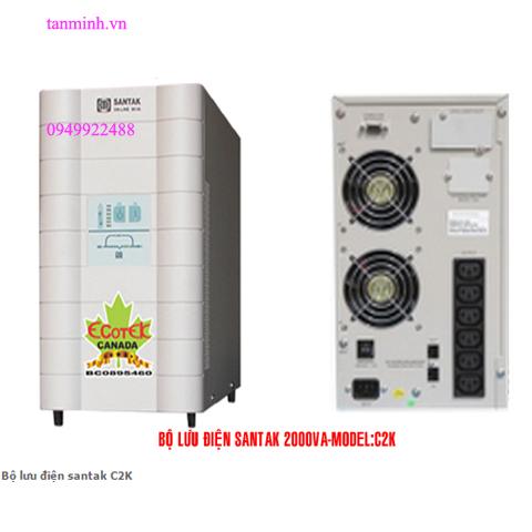 Bộ lưu điện santak C2K- online(ắc quy trong)