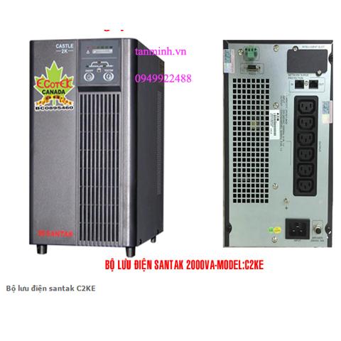 Bộ lưu điện santak C2KE- online(ắc quy trong)
