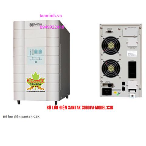 Bộ lưu điện santak C3K - online(ắc quy trong)