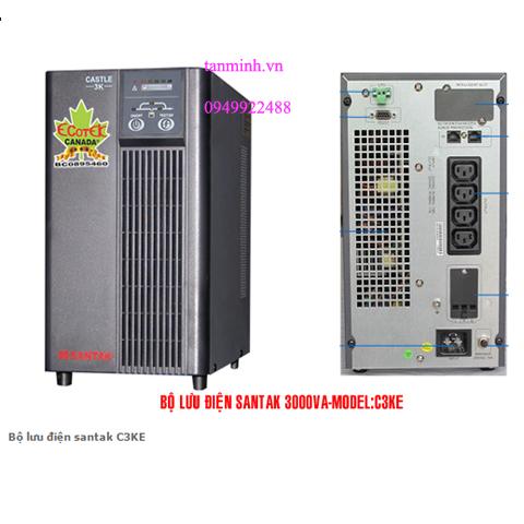 Bộ lưu điện santak C3KE - online(ắc quy trong)
