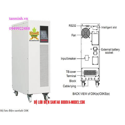 Bộ lưu điện santak C6K - online(ắc quy trong)