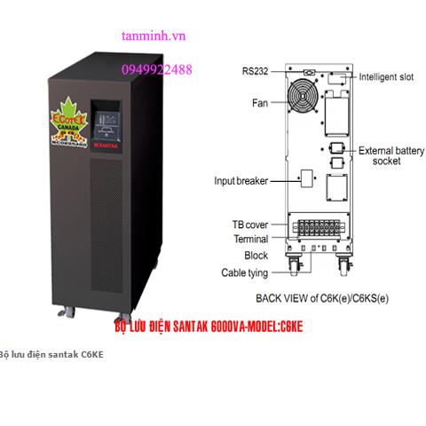 Bộ lưu điện santak C6KE - online