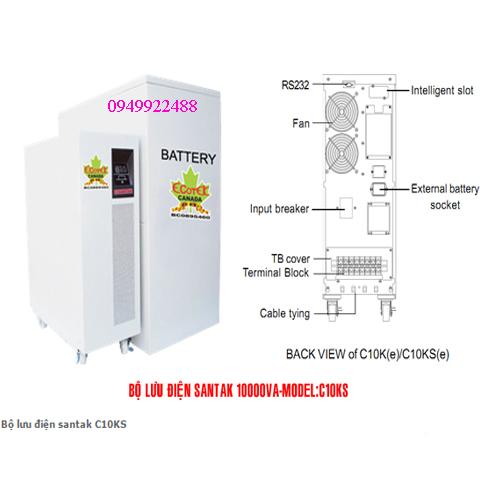 Bộ lưu điện santak C10KS ( ắc quy ngoài vào 1p ra 1p)