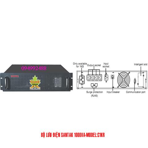 Bộ lưu điện santak C1KR (BỘ LƯU ĐIỆN SANTAK ONLINE ẮC QUI TRONG - RACKMOUNT)