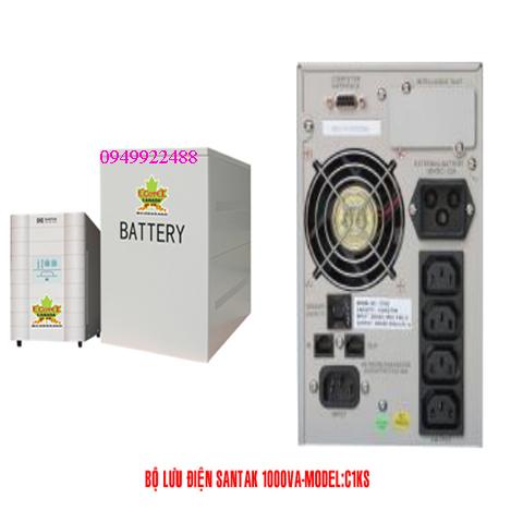 Bộ lưu điện santak C1KS( ắc quy ngoài vào 1p ra 1p)