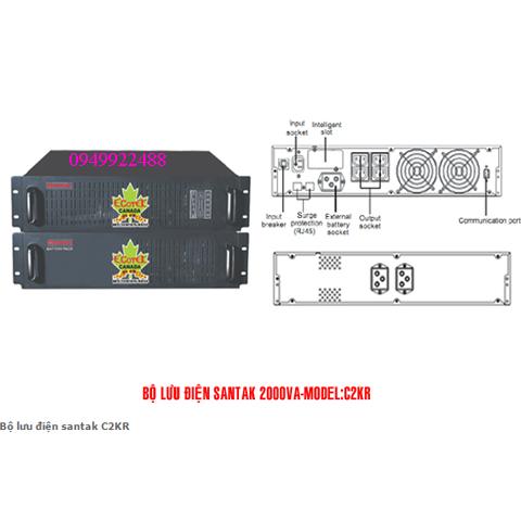 Bộ lưu điện santak C2KR (ắc quy trong)