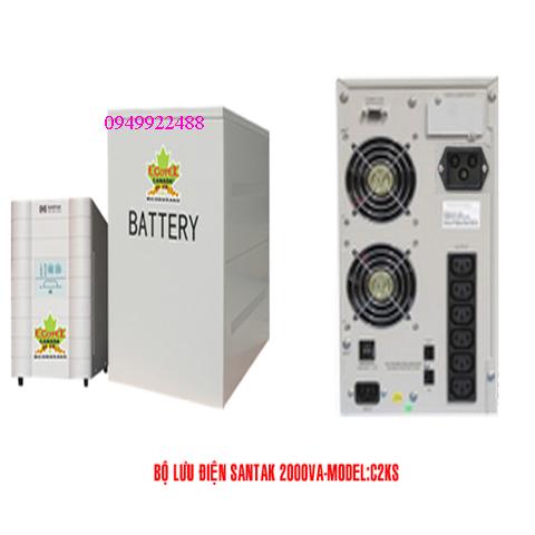Bộ lưu điện santak C2KS( ắc quy ngoài vào 1p ra 1P)
