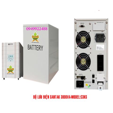 Bộ lưu điện santak C3KS(ắc quy ngoài vào 1p ra 1p)