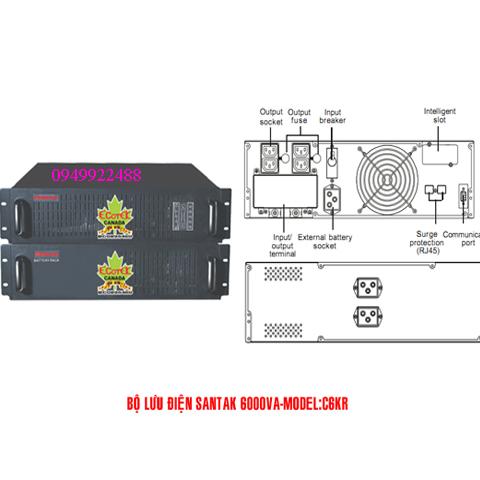 Bộ lưu điện santak C6KR(ắc quy trong)